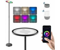 RGB Lampadaire led 25W Lampadaire Salon avec Luminosité Réglable Lampe sur Pied led Compatible avec