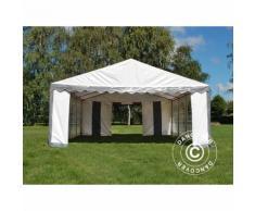 Tente de réception Original 5x8m PVC, Gris/Blanc