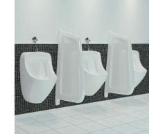 Brise-vue pour urinoir mural Céramique Blanc