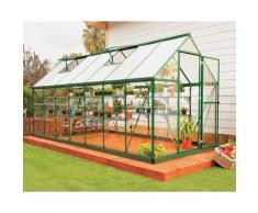 Serre de jardin HYBRID 6x14 vert - 7.9m²