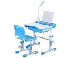 Bureau pour Enfant Bureau Ecolier Bureau avec Chaise Bureau avec Lampe LED Bureau pour Enfants avec