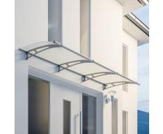 Auvent marquise de porte, 270 x 95 cm, LT Line, opaque, fixations inox