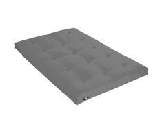 Idliterie - Matelas Futon Coton Couleur - Gris Clair, Dimensions - 140 x 190 cm