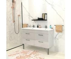 Ensemble meuble sous-vasque + vasque résine MILANO / Blanc/