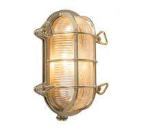 Applique Retro or 23 cm IP44 - Nautica ovale Rustique Luminaire exterieur IP44 - Qazqa