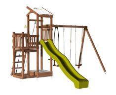 Aire de jeux pour enfant 2 tours avec portique et bac à sable - FUNNY Swing 150 sans option