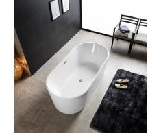 Baignoire ilot ovale en acrylique 140 cm - Tamara