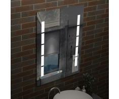 Miroir LED anti-buée 70x50cm miroir de salle de bain