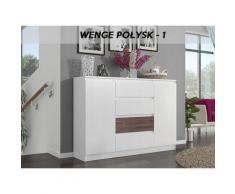 Hucoco - PORTO W1 - Commode ultra moderne meuble rangement chambre/salon - 140x40x98 - 4 tiroirs/2