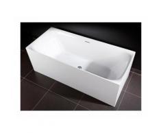 Baignoire design rectangulaire ROMA blanche 150 cm