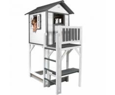Lodge XXL Playhouse: Maisonnette pour enfants, fenêtres intégrées et bois très résistant