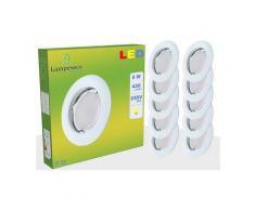 Lot de 50 Spot Led Encastrable Complete Blanc Lumière Blanc Chaud 5W eq.50W ref.267