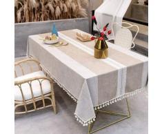 ILoveManoMano Nappe anti-poussière épissage, nappe rectangulaire, nappe de décoration de table de
