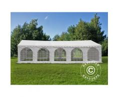 Tente de réception Exclusive 6x10m PVC, Blanc