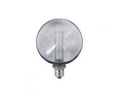 Ampoule LED déco hologramme globe verre fumé culot E27 blanc chaud | Xanlite