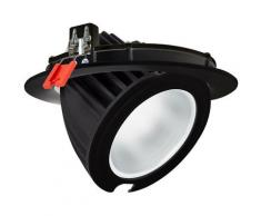 Projecteur LED SAMSUNG 125lm/W Orientable Rond 48W Noir LIFUD Blanc Chaud 2800K - 3200K - Blanc