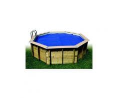 Bâche à bulles pour piscine bois Ubbink octogonale Modèle - Ocea 5,10m octogonale