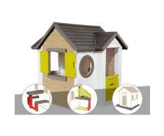 Cabane enfant My New House + Table pique nique + Cuisine d'été + 2 Sets de 6 dalles - Smoby