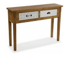 Versa Selma Meuble d'Entrée Étroit, Table console, 78x30x109cm - Marron