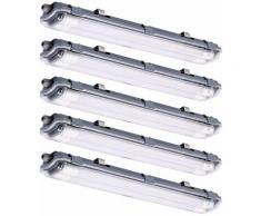 Etc-shop - Ensemble de 5 baignoires à LED Lampes Halls de stockage Plafonniers Daylight Garages
