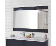 Miroir MIROSA gris anthracite avec appliques LED - 120x80 cm
