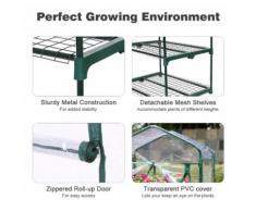 4-Tier Serre de Jardin Greenhouse Transparent PVC Tente Abri Portable