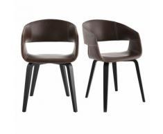 Chaises design pieds bois (lot de 2) SLAM - Marron clair