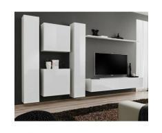 Paris Prix - Meuble Tv Mural Design switch Vi 330cm Blanc