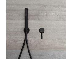 Kit de Douche - Mitigeur Mécanique Encastrable et Douchette Noir - Nox