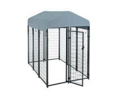 Niche pour chien Cage 185x117x185cm Niche d'éléments de grille de sou