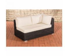 Canapé d'angle de 2 places Tessera rond/noir Blanc beige
