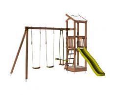 Aire de jeux avec portique et bac à sable - HAPPY Swing 120 sans option