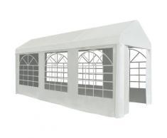 Tente de réception PE 2 x 5 m Blanc