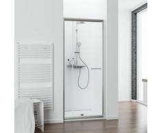 Porte de douche pivotante extensible, verre 5 mm, Vita, Schulte, 90-100 cm, profilé aspect chromé,