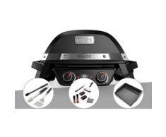 Barbecue électrique Weber Pulse 2000 + Kit ustensiles 3 pièces Better + Kit de nettoyage + Plancha