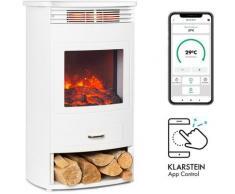 Klarstein - Bormio Smart cheminée électrique 950 / 1900W thermostat minuterie hebdomadaire blanche