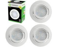 Lampesecoenergie - Lot de 4 Spot Led Encastrable Complete Blanc Orientable lumière Blanc Chaud eq.