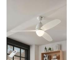 Lindby - Ventilateur de plafond avec lampe 'Piara' pour chambre à coucher