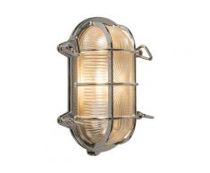Applique Retro chrome 23 cm IP44 - Nautica 1 ovale Qazqa Rustique Luminaire exterieur IP44
