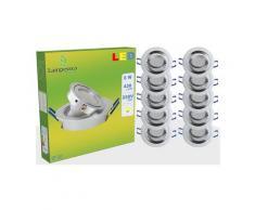 LOT DE 10 SPOT LED ENCASTRABLE ORIENTABLE 5W eq. 50W, BLANC CHAUD ref.64853000
