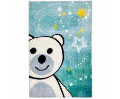 Tapis pour chambre bébé multicolore doux en polyester Ours Multicolore 90x130