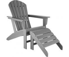 Chaise de jardin JANIS avec repose-pieds JOPLIN - fauteuil avec repose-pieds, ensemble mobilier de