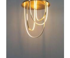 Grand plafonnier LED design à feston doré - Vicarello - Doré / Laiton