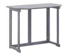 Topdeal VDTD33140_FR Table pliable de balcon 120 x 70 x 74 cm Bois d'acacia massif