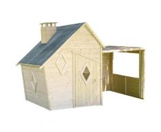 Soulet - Maisonnette destructurée en bois pour enfants avec pergola - Erana