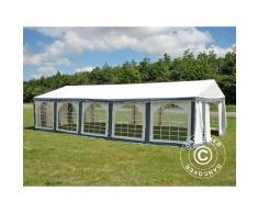 Tente de réception Original 4x10m PVC, Gris/Blanc