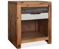 Table de nuit chevet commode armoire meuble chambre 40 x 30 x 48 cm bois d'acacia massif - Bois