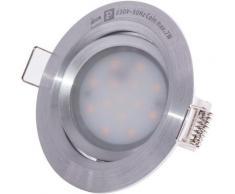 Projecteur encastré de plafond à LED, éclairage de salon de travail, éclairage ALU orientable