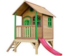 Tom Playhouse: Maisonnette pour enfants, fenêtres intégrées et bois très résistant