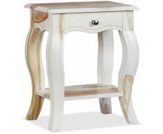 Helloshop26 - Table de nuit chevet commode armoire meuble chambre bois massif de sesham 40 x 30 x
